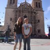 A picture of me and my sister at a Cathedral in Chihuahua Mexico.